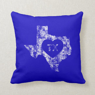 Used I Love Texas State Throw Pillow