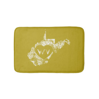 Used I Love West Virginia State Bath Mats