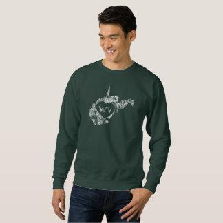 Used I Love West Virginia State Men's Sweatshirts