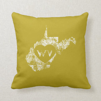 Used I Love West Virginia State Pillows
