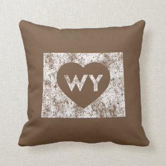 """Used I Love Wyoming State Throw Pillow 16"""" x 16"""""""