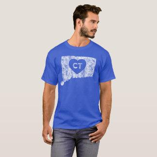 Used Love Connecticut State Men's Dark T-Shirt