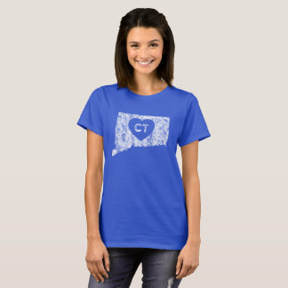 Used Love Connecticut State Women's Basic T-Shirt