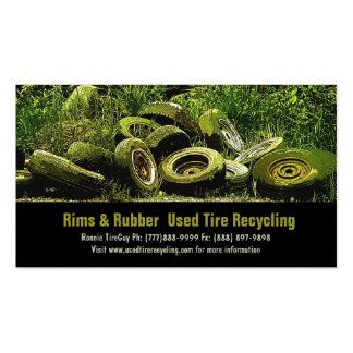 Used Tires Recycling Dump or Depot Center Business Card Template