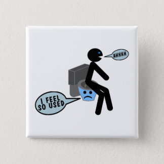 Used Toilet 2 Inch Square Button