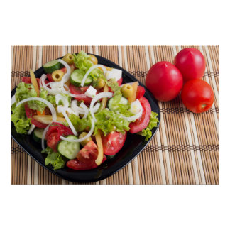 Useful and natural vegetable salad of tomato poster