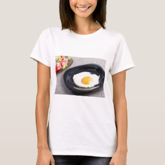 Useful homemade breakfast of fried egg and a salad T-Shirt