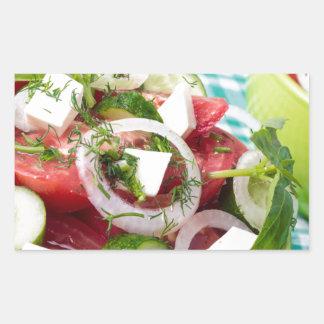 Useful vegetarian salad with raw tomatoes