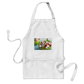 Useful vegetarian salad with raw tomatoes standard apron