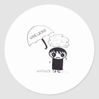 Useless EMO Classic Round Sticker