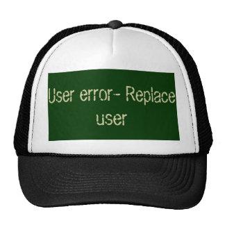 User error code trucker hat
