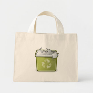 User Trash Full Mini Tote Bag