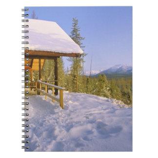 USFS Schnauss Cabin rental in Winter ovelooking Spiral Note Books
