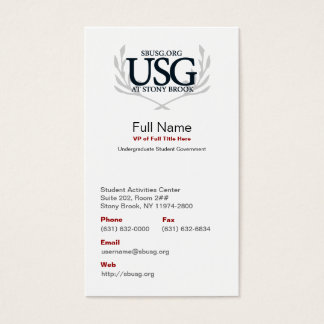 USG Official Business Card