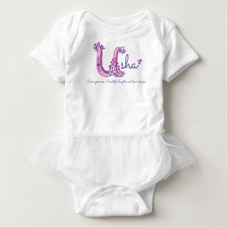 Usha girls name & meaning U monogram shirt