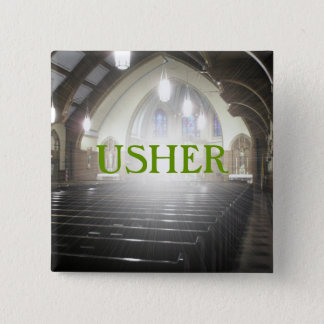 USHER 2 INCH SQUARE BUTTON