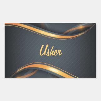 Usher (bl/gd) sticker