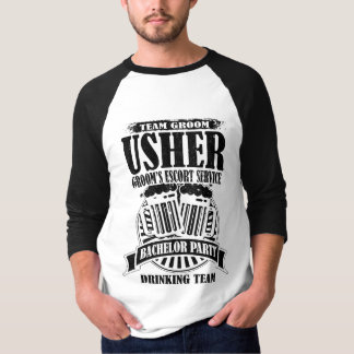 Usher Groom's Escort Service Bachelor Party T-Shirt