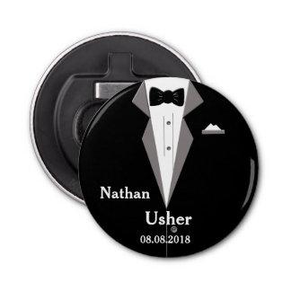 Usher Personalise Wedding Bottle Opener Button Bottle Opener