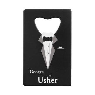 Usher Personalise Wedding Bottle Opener Wallet Bottle Opener
