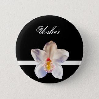 Usher Wedding ID Badge 2 Inch Round Button