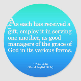 Using Gifts from God 1 Peter 4:10 Stickers