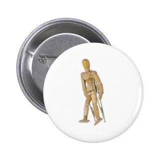 UsingCrutches013110 2 Inch Round Button