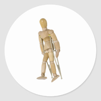 UsingCrutches013110 Classic Round Sticker