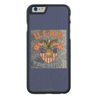 USMA West Point Seal Scene Carved Maple iPhone 6 Case