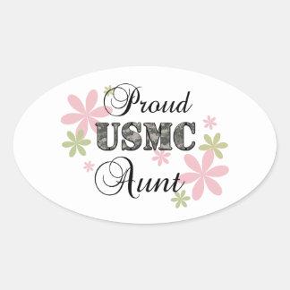 USMC Aunt [fl camo] Oval Sticker