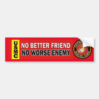 USMC Better Friend Worse Enemy Bumper Sticker