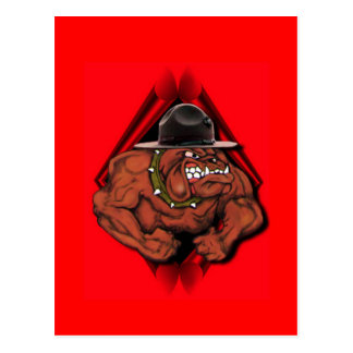 USMC Devil Dog Postcard