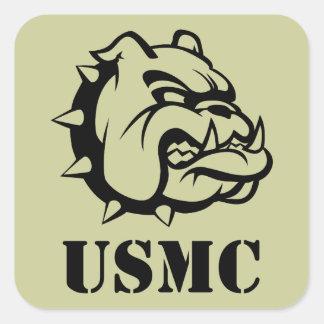 USMC Dog Square Sticker