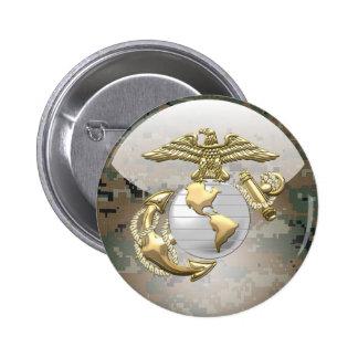 USMC Eagle, Globe & Anchor (EGA) [3D] 2 Inch Round Button
