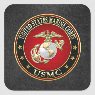 USMC EGA [Special Edition] [3D] Square Sticker