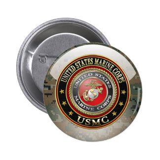 USMC Emblem [Special Edition] [3D] 2 Inch Round Button