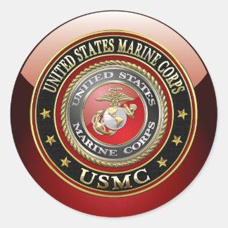 USMC Emblem [Special Edition] [3D] Round Sticker