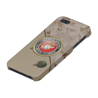 USMC Emblem & Uniform [3D] iPhone 5 Cases