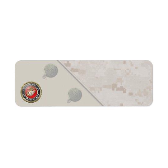 USMC Emblem & Uniform [3D] Return Address Label