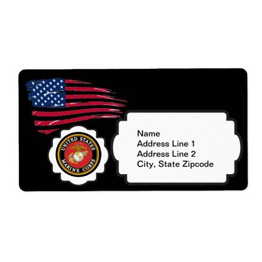 USMC Emblem with the US Flag