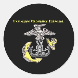 USMC EOD CLASSIC ROUND STICKER