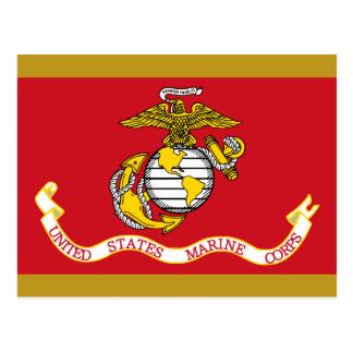 USMC Flag Postcard