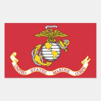 USMC Flag Sticker