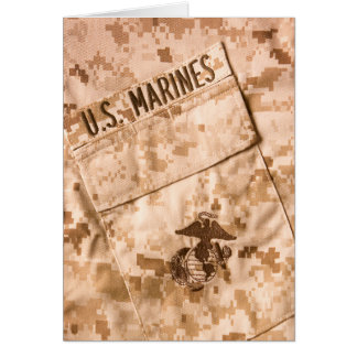 USMC Greeting Card