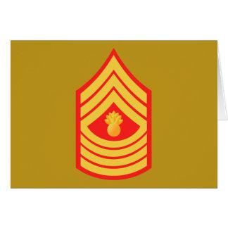 USMC MGySgt Master Gunnery Sergeant E-9 Card