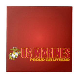 USMC Proud Girlfriend Tiles