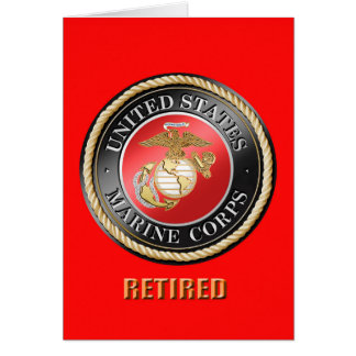 USMC Retired Greeting Card