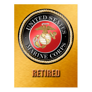 USMC Retired Postcard