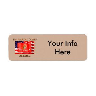 USMC Retired Return Address Label