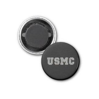 USMC [rusty text] 1 Inch Round Magnet